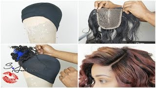 How To Sew In A Lace Closure Yourself for Beginners Tutorial | Wig Making 101