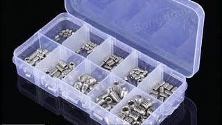 Suleve™ MXSH1 200Pcs Stainless Steel Allen Head Socket Hex Set Grub Screw Assortment