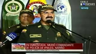 Asesinato de coronel de Ipiales a manos de las Farc es demencial: Palomino