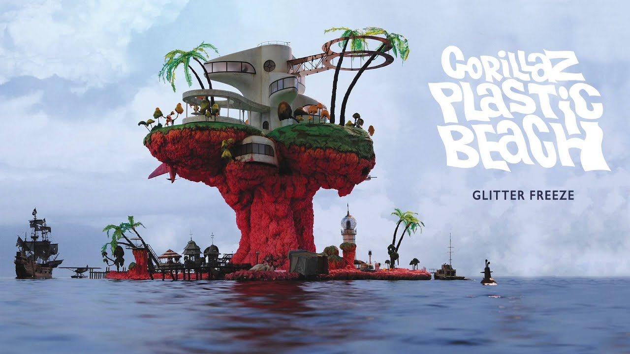 gorillaz glitter freeze plastic beach youtube