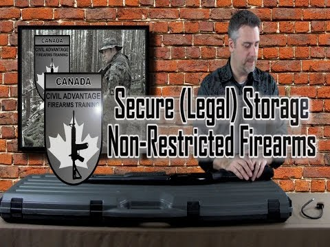 Secure Storage of Non Restricted Firearms- Canada