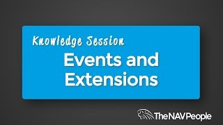 Knowledge Session - Events and Extensions