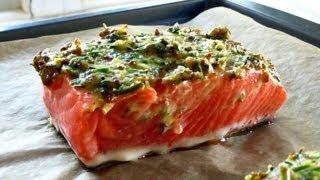 Baked Salmon with Herb Dijon Sauce Recipe