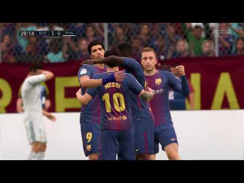 FIFA 18 (PS4 Gameplay) El Clasico FC Barcelona VS Real Madrid 7-0 TOTAL DOMINATION TIKI-TAKA!!!