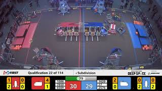 Qualification 22 - 2019 FIRST Championship - Detroit - Tesla Subdivision