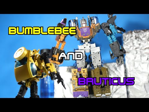 Bumblebee And Bruticus - Transformers Stop Motion Short [6th Annual Age Of Swagwave]