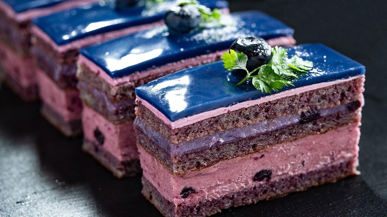 ブルーベリー・オペラケーキの作り方 Blueberry Opera Cake