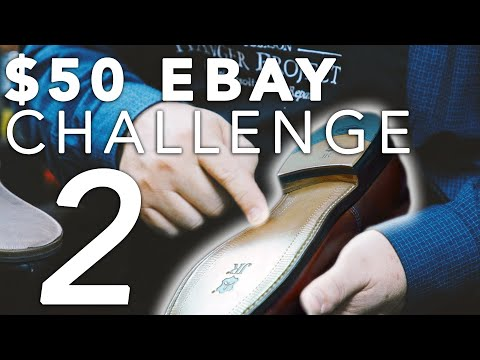 How To Make Old Shoes Look Brand New 👞✨| Allen Edmonds $50 Ebay Challenge | Kirby Allison