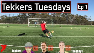 TEKKERS TUESDAYS IS BACK | Featuring special guest Alanna Kennedy | VOLLEY CHALLENGE | JonerFootball
