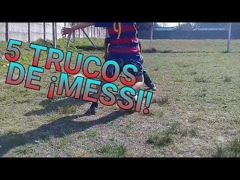 5 TRUCOS DE MESSI! - ( TRUCOS Y JUGADAS DE FÚTBOL ) - APRENDER -