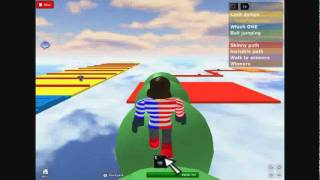 Me at Easiest Obby in ROBLOX*Invisible Path Easier now, by enjoi378 - ROBLOX Obby Walkthrough