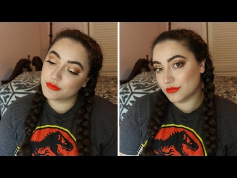 end-of-summer-makeup-tut-|-gold-eyes-+-a-fiery-red-lip-|-alexis-diana-beauty
