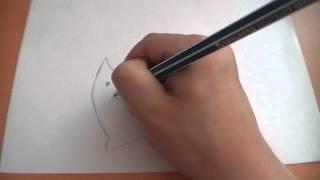 Видео урок как нарисовать котёнка с позитивной подушкой.(В этом видео я покажу как можно прикольно нарисовать котёнка с о смайликовой подушкой.Простите что камера..., 2014-05-22T16:10:02.000Z)