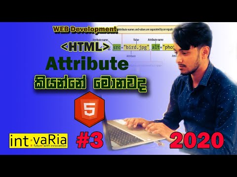 Web Development in sinhala Lesson #3 ( Html Attribute) thumbnail