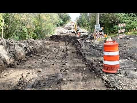 54th Street bridge and access road construction Sept 2015