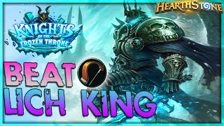 How to beat THE LICH KING [Hunter] - Solo Adventure 🌟 HEARTHSTONE  | Frozen Throne Legend