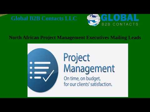 North African Project Management Executives Mailing Leads