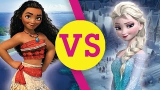 Moana VS Elsa - Disney Princess VS!