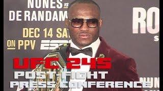 UFC 245 Post-Fight Press Conference: Kamaru Usman  (FULL)