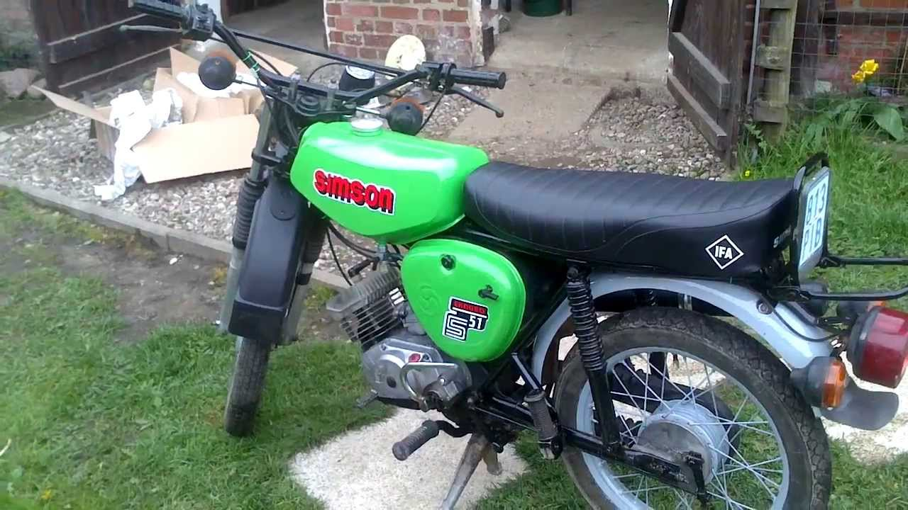 simson s51 enduro gr n youtube