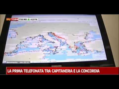 The sound of the first communication between the port and the Costa Concordia (Italian audio)
