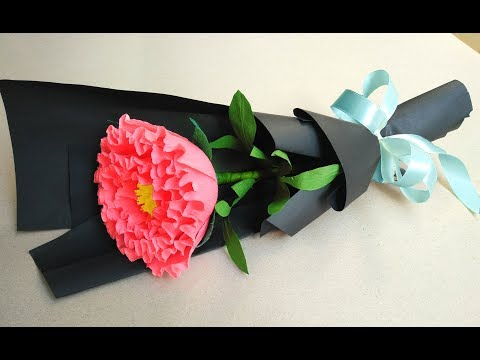 how-to-make-paper-flower-bouquet-at-home---easy-peony-paper-flower-bouquet-for-beginner.
