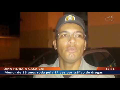 DF ALERTA - Menor de 15 anos roda pela 1ª vez por tráfico de drogas