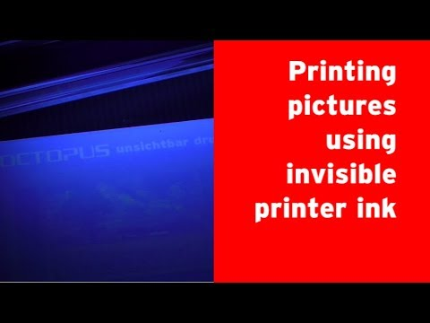 How to use invisible ink to print pictures, that glow under ultraviolet light ?