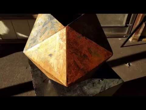 Making a giant steel D20