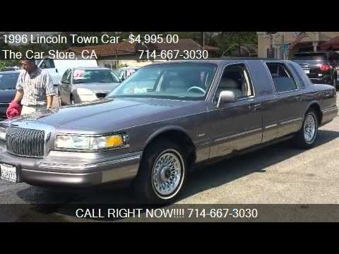 1996 Lincoln Town Car Executive Limo For Sale In Santa Ana Youtube