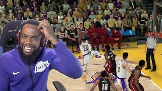 The Craziest Basketball Shot In 2K History! Lakers vs Heat NBA 2K19 Ep 102