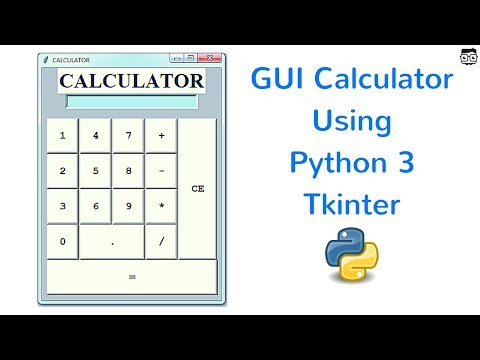 GUI Calculator Using Python 3 Tkinter - YouTube