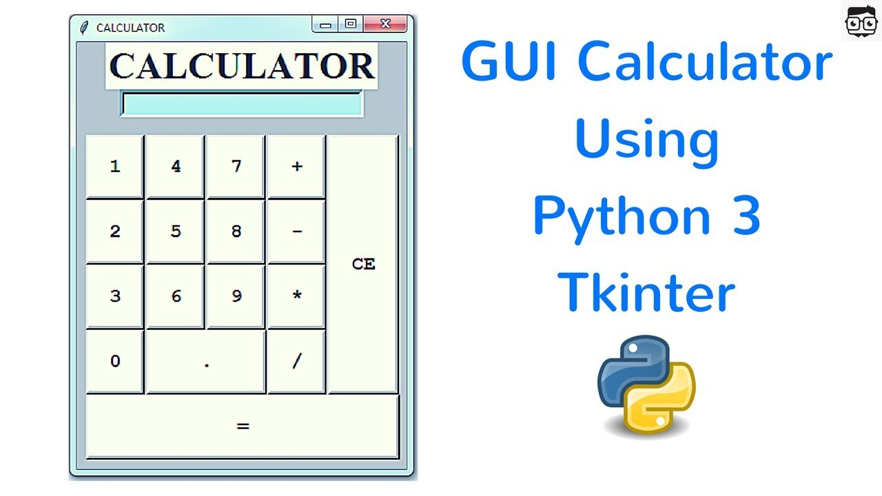 GUI Calculator Using Python 3 Tkinter