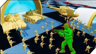 СОЛДАТИКИ ИГРУШКИ ИГРАЮТ В ВОЙНУШКИ - Attack on Toys # 3 Война игрушек солдатиков