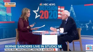 Bernie Sanders BATTLES Today Show Host In Horrible Interview With Ridiculous Questions