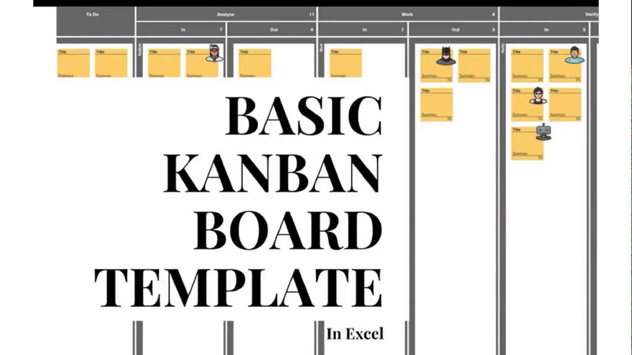 Basic Kanban Board Template For Excel With Wip Limits Free Http Bit Ly 2lxuobg