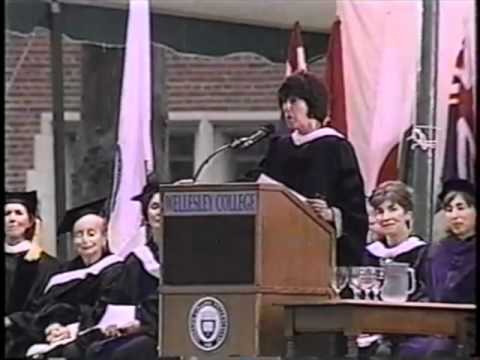 Nora Ephron speaking at Wellesley College Commencement 1996