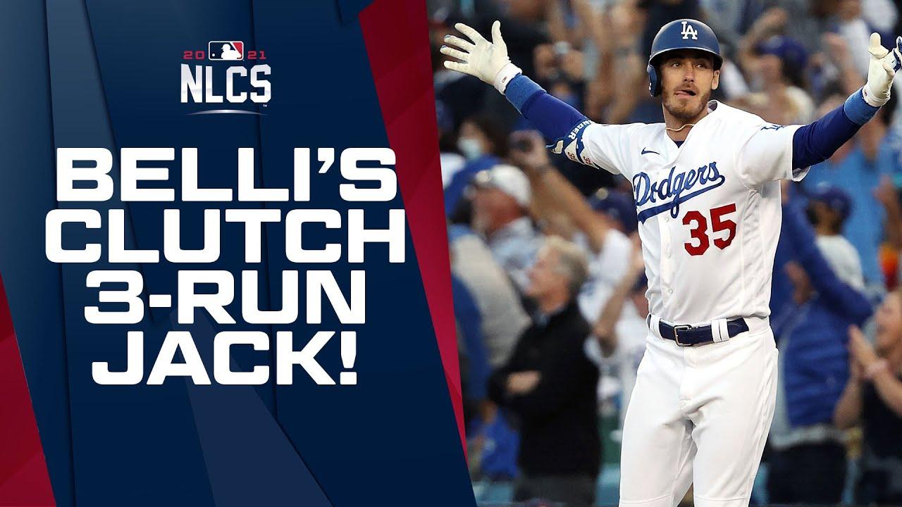 Download BELLI BELTS IT!!! Dodgers tie it up on Cody Bellinger's 3-run CLUTCH homer in 8th inning!!!