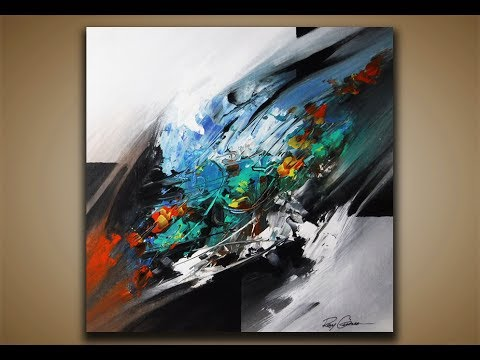 abstract painting demo 29 abstract art blending acrylics painting techniques youtube. Black Bedroom Furniture Sets. Home Design Ideas