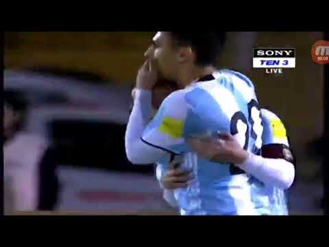 Messi Hattrick & Argentina celebration Qualify Russia World Cup 2018