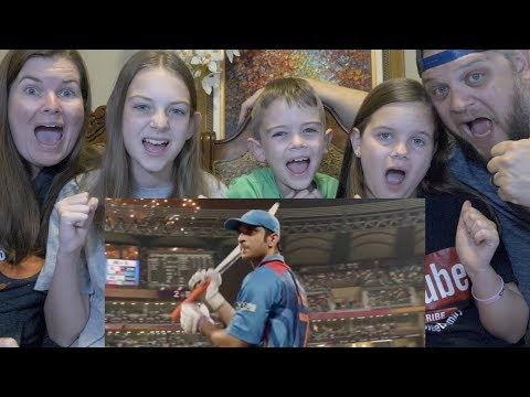 MS DHONI TRAILER | AMERICAN FAMILY REACTION