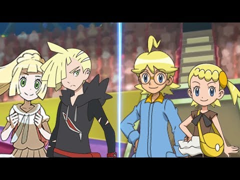 Pokemon Battle USUM: Gladion And Lillie Vs Clemont And Bonnie (Alola Vs Kalos Sibling Battle)