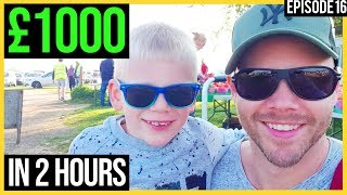 MAKING £1000 in 2 HOURS Flipping Car Boot Sale Items.. £1 to £100,000 Challenge (#16)