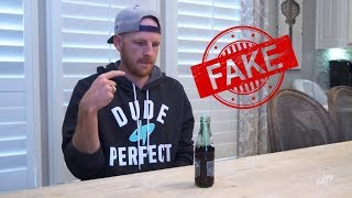 Dude perfect real life trick shots fake trick in their latest video.!! #Dude perfect