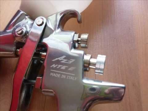 pistolet lakierniczy air gunsa iwata az3 hte2 1 youtube. Black Bedroom Furniture Sets. Home Design Ideas