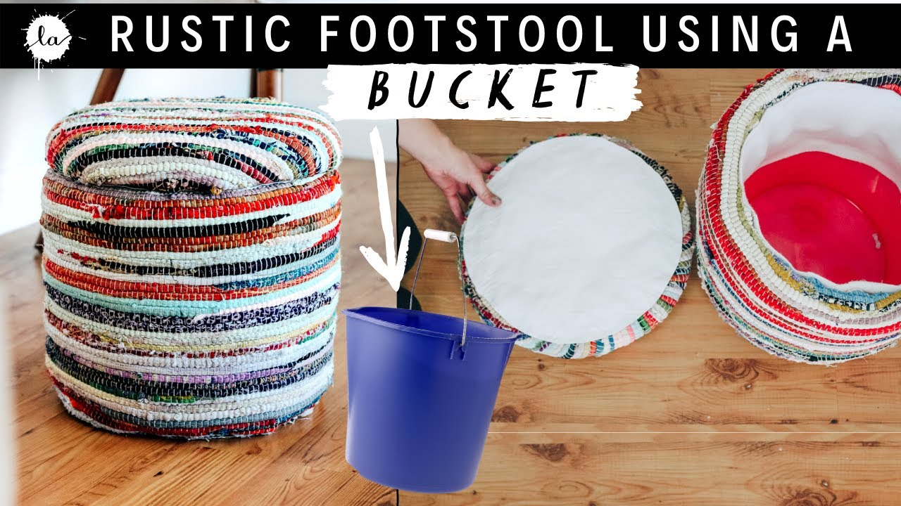 Make It Ottoman Foot Stool Using A Bucket Easy Diy Project Storage