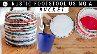 Make it - ottoman - FOOT STOOL USING A BUCKET -EASY DIY PROJECT -Storage