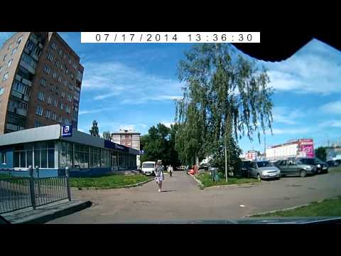 Нелепое ДТП на ул  Удмуртская, 249  17 07 2014 Ижевск