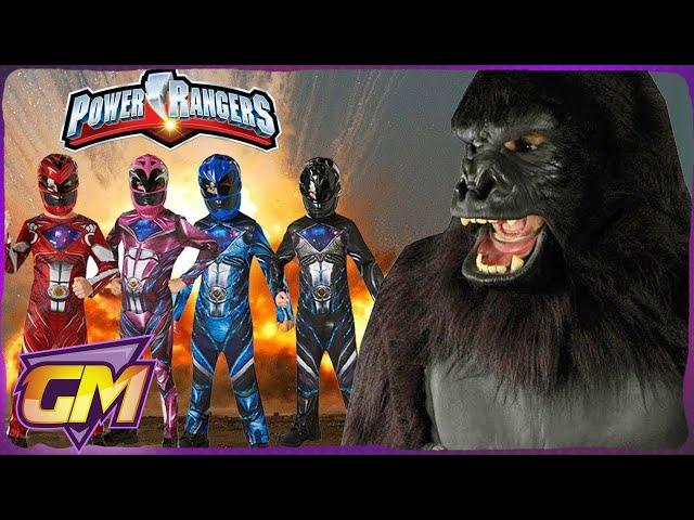 POWER RANGERS Vs KING KONG (Skull Island) - Scary Kids Parody