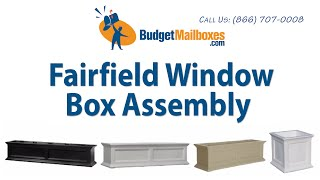 Budgetmailboxes.com | Mayne Post | Fairfield Window Box Assembly